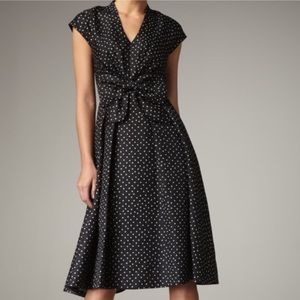 Kate Spade Freesia Polka Dot Bow Silk Dress Size 6